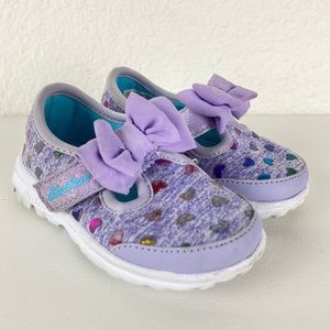 Skechers memory form fit bitty bow baby girl shoes